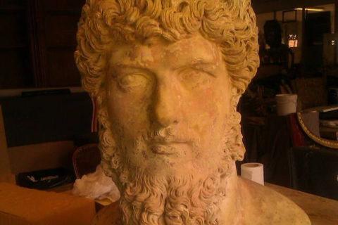 Hercule's Head restoration - Terra cota